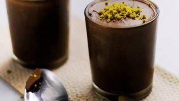 Vegan Orange Chocolate Mousse with Pistachios
