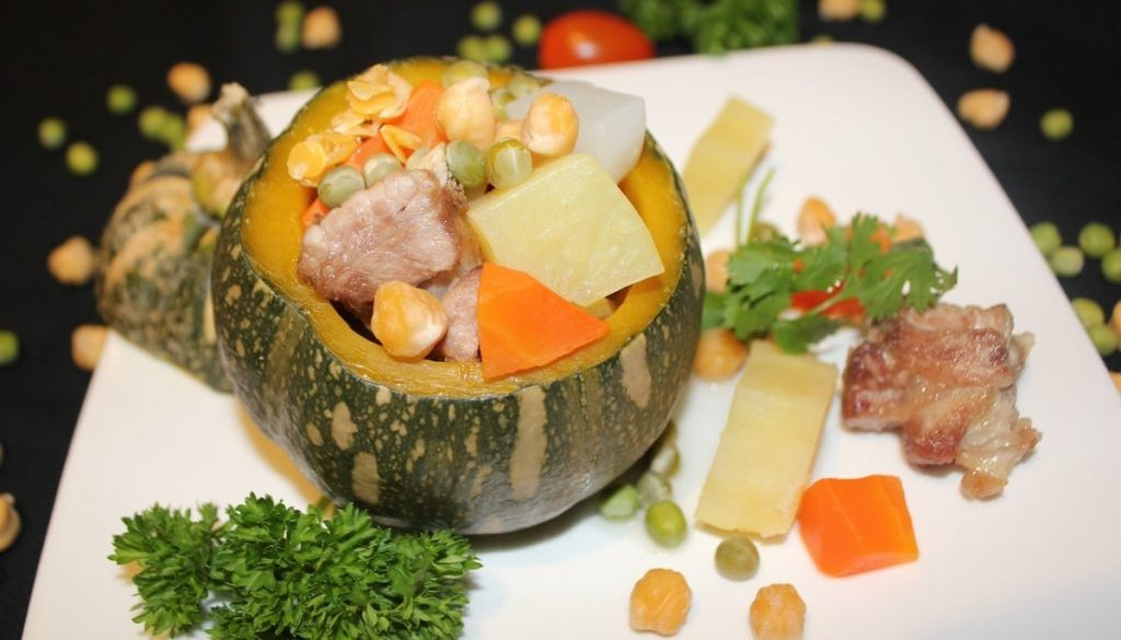 baby back rib soup with u.s. pulses and vegetables