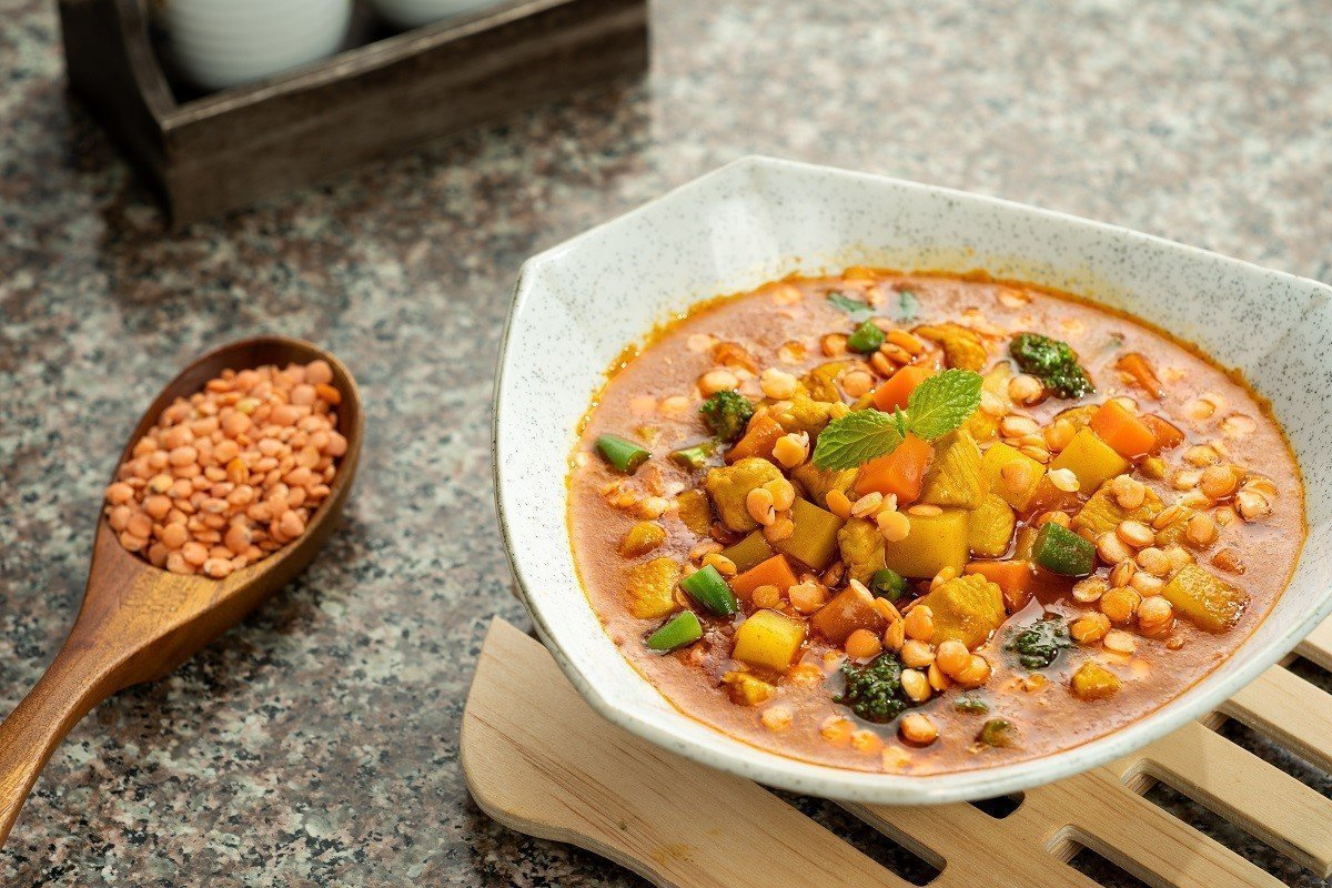 Chicken Curry with U.S Red Lentils