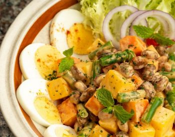 Eggs Salad with U.S Red Kidney Beans