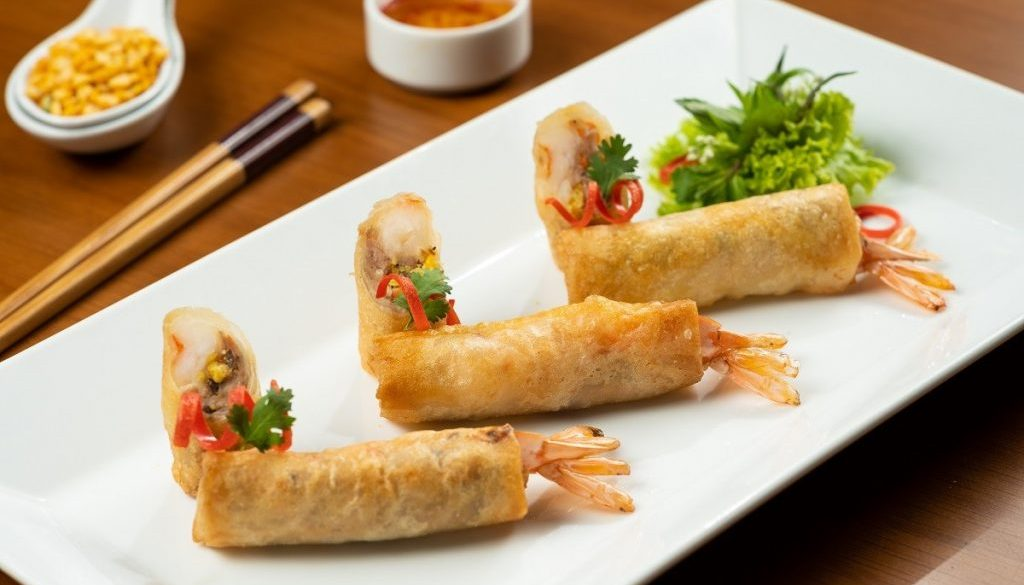 fried spring roll with u.s. yellow split peas