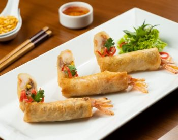 Fried Spring Rolls with U.S. Yellow Split Peas