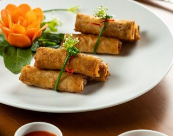 Fried Vegetarian Spring Rolls with U.S. Red Lentils