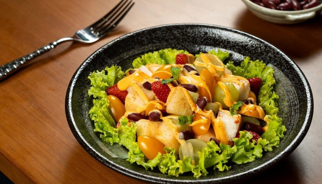u.s. red kidney bean salad with fruits