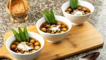u.s. red lentil pearls in palm sugar syrup