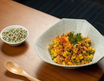 U.S. Whole Green Peas Stir Fried With Dried Shrimps and Corn
