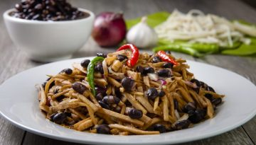 Adobong Labong with U.S. Black Beans