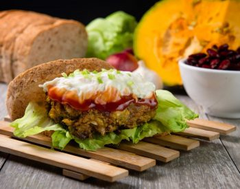 Fish Patties with Mashed U.S. Red Kidney Beans