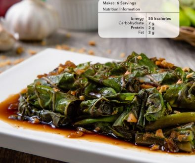 Ginisang Kangkong with U.S. Black Beans