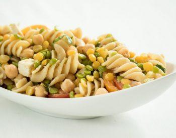 Pasta Salad with Tuna, U.S. Chickpeas and Split Peas
