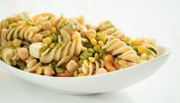 Pasta Salad with Tuna, U.S. Chickpeas and Split Peas