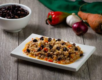 Picadillo with </br>U.S. Black Beans