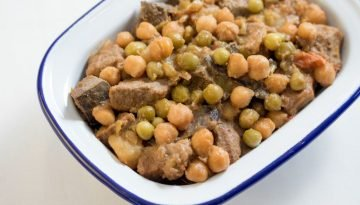 Pork Menudo with U.S. Chickpeas and U.S. Green Peas