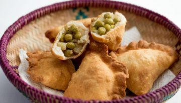 U.S. Green Pea and Potato Samosas