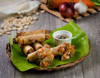 Vegetable Lumpia with U.S. White Beans