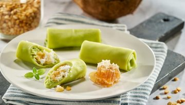 U.S. Yellow Split Peas and Young Coconut Crepes